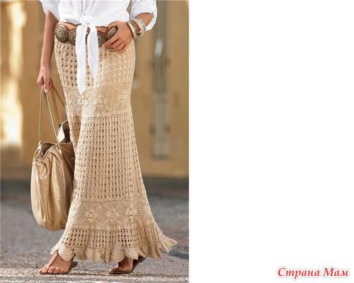 Шикарная длинная юбка крючком. Присоединяйтесь!