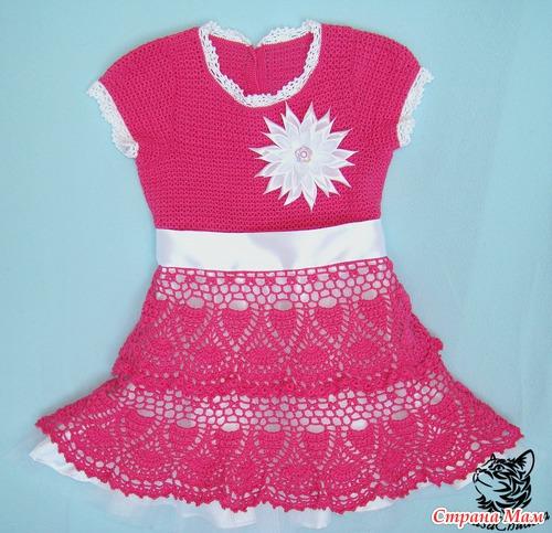 """Платье для дочи """"Малинка"""""""