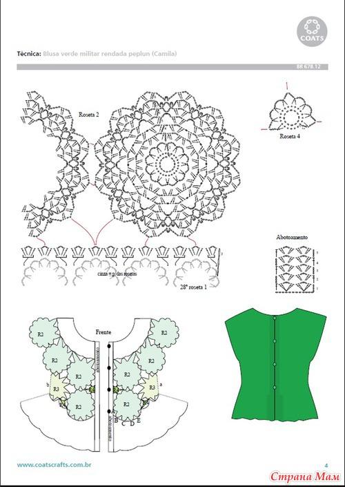 Эффектная блуза крючком