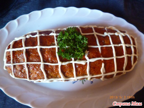 Американский мясной хлеб или котлета для ленивых