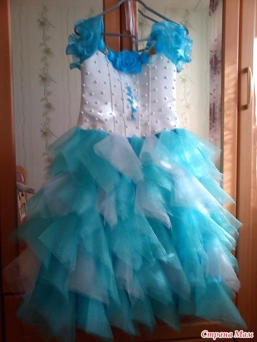 Сшить платье с фатина 89