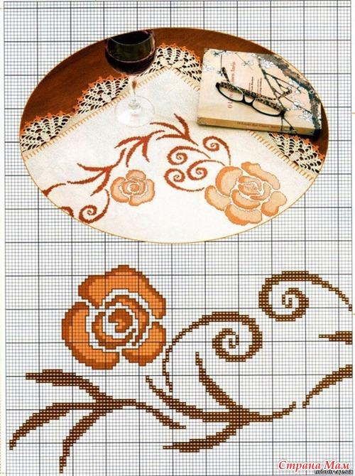 ...схем для вышивки скатертей. к сожалению, копировала давно и ссылку не сохранила, но у кого то в дневниках на ЛиРу.