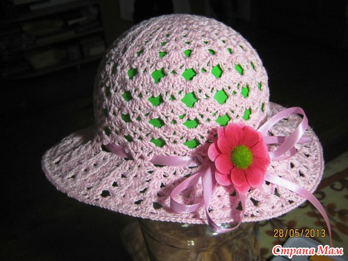 Вязание спицами панамки и шляпки