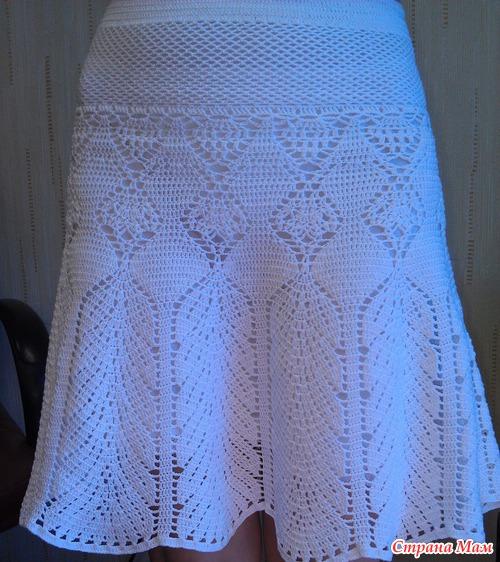 Белая юбка крючком Victoria's Secret