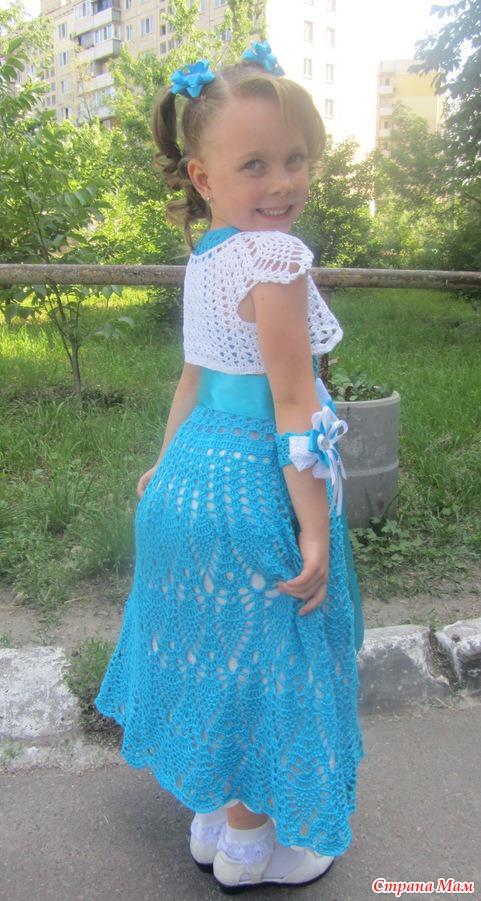 Вязаное платье на выпускной