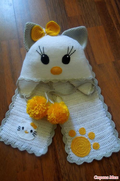 Шапочка и шарфик для  девочки!