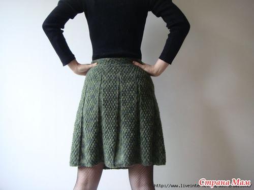 Расклешенная юбка спицами. Вяжем вместе!