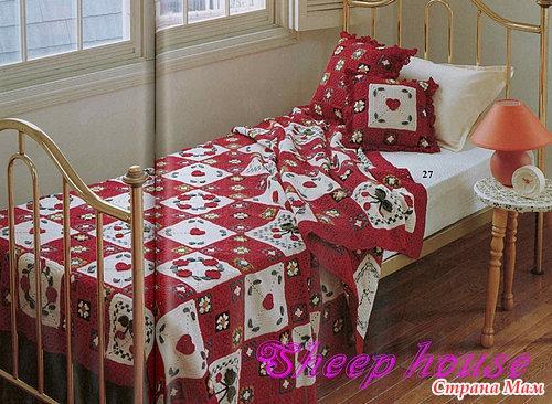 Новогоднее покрывало на кровать своими руками 43