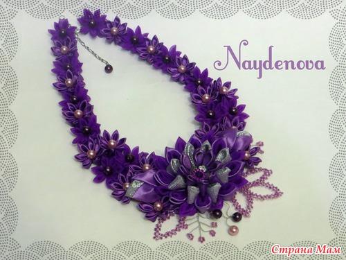 Ожерелье своими руками канзаши 82