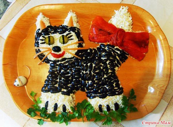 Украшения для салатов животные с
