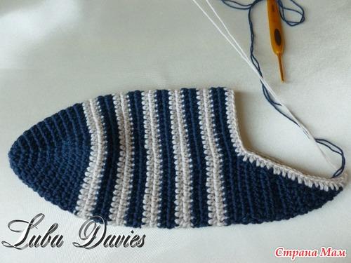Носки крючком схема 42 размер