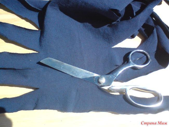 Трикотажная пряжа из старых футболок