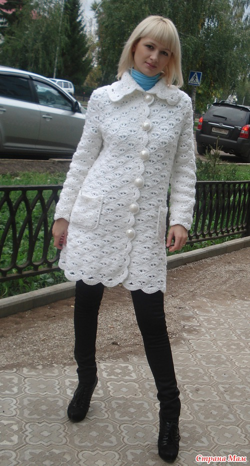 пальто из ракушек все в ажуре вязание крючком страна мам