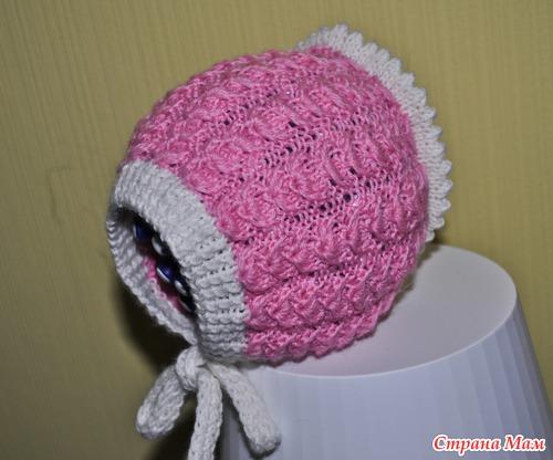 моя шапочка чепчик розовый фламинго по мотивам небо голубое