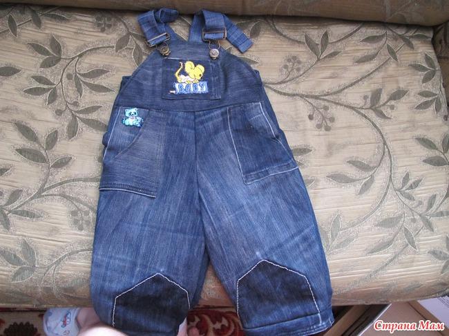 Как сшить детский комбинезон из джинсов 453