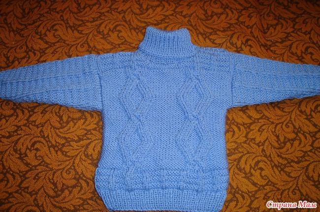 теплый свитер для мальчика 2 4 лет вязание для детей страна мам