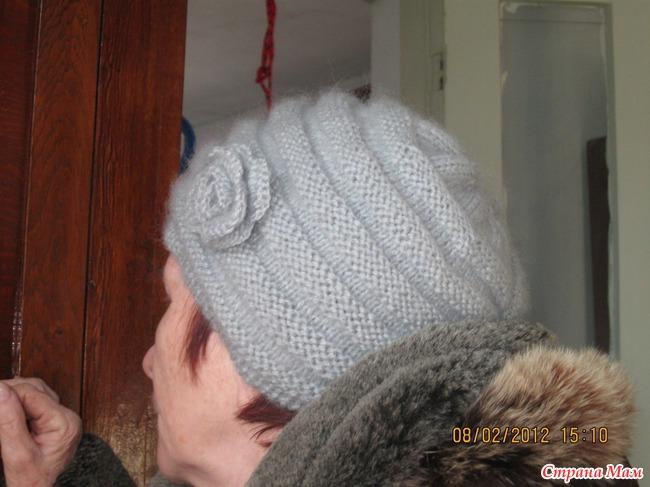 шапка двойная вязание страна мам