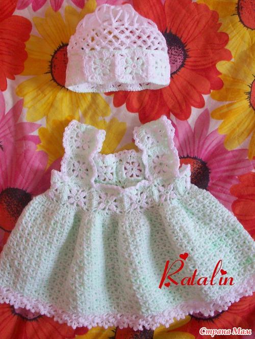 Платье для девочки крючком: модели для самых маленьких 66