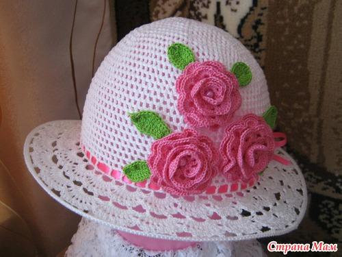 шляпка для маленькой девочки вязание для детей страна мам