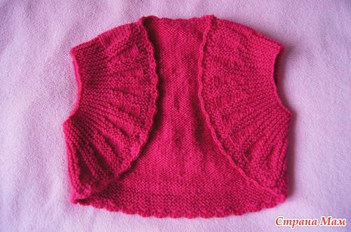 болеро и кофточка для дочки вязание для детей страна мам