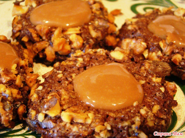 печенье с ирисками рецепт