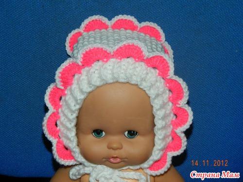 чепчик спицами для девочки вязание для детей страна мам