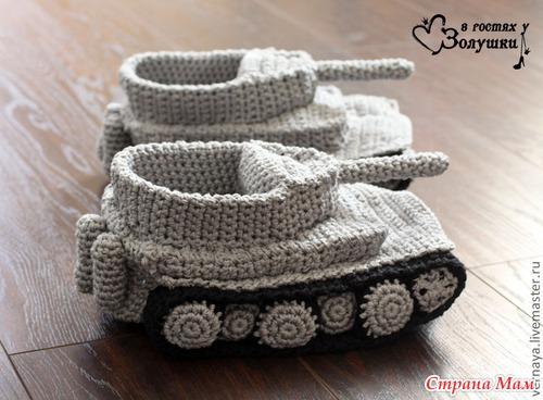 Схема для вязания танка 866