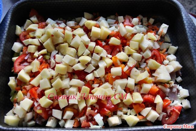 в духовке баклажаны с картошкой