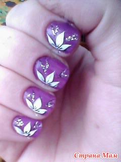 Как сделать рисунки на ногтях акриловыми красками пошагово