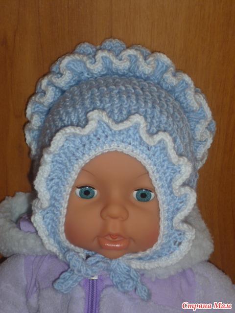 импровизация с шапочкой для новорожденного все в ажуре вязание