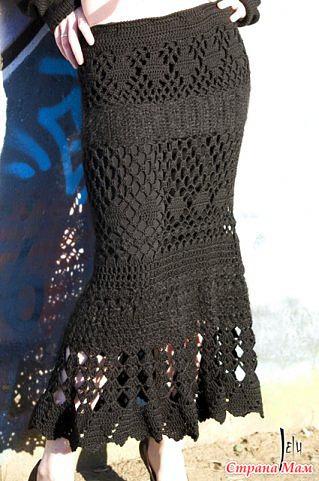 Вяжем длинную юбку