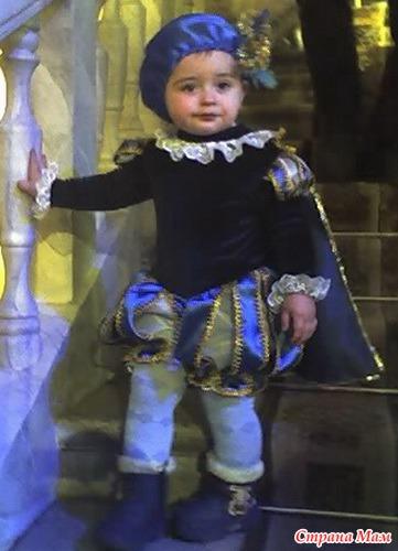 Новогодний костюм для мальчика принц своими руками